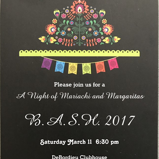 BASH 2017 – March 11th at 6:30 pm